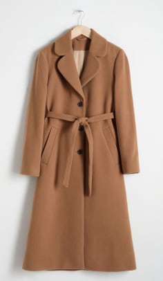 & other stories camel coat
