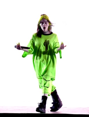 billie eilish slime green concert outfit