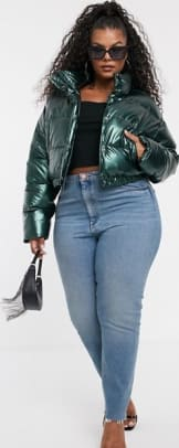 ASOS CURVE Cropped Puffer Jacket