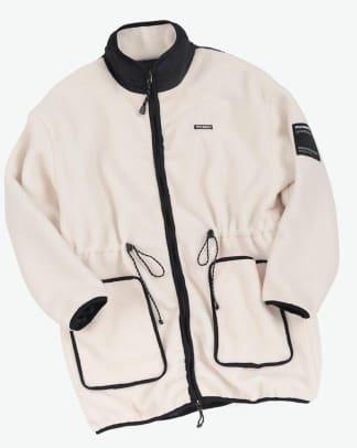 piecemaker fleece long jacket