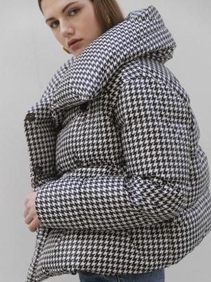 w concept houndstooth coat