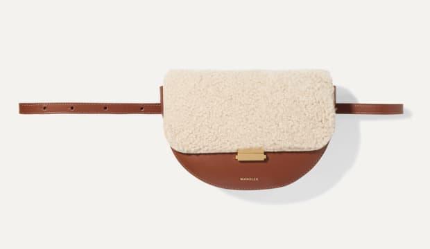 wandler shearling belt bag