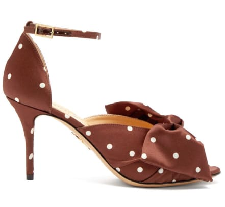 charlotte olympia polka dot satin pumps