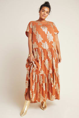 jocasta teired maxi dress