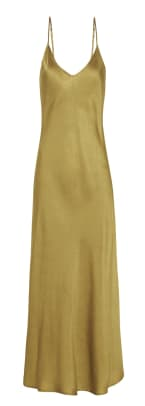 Silk Laundry - Collection 90s Silk Slip Dress in Gilded Gold $275