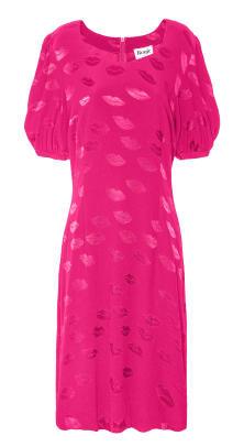 rouje pink lips dress