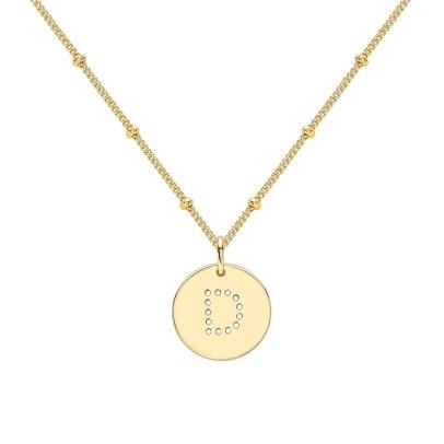 gold alphabet necklace