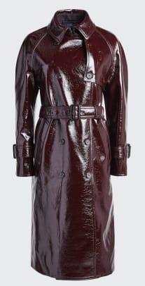 joseph coated felt trench coat