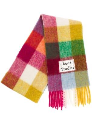 acne studios grid scarf