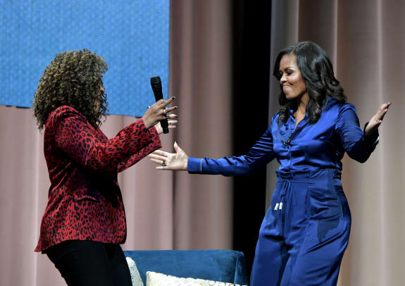 michelle obama custom blue silk cushnie