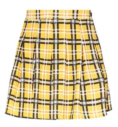 yellow-check-skirt