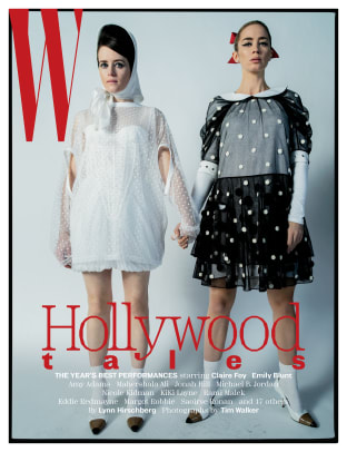 W Claire Foy and Emily Blunt