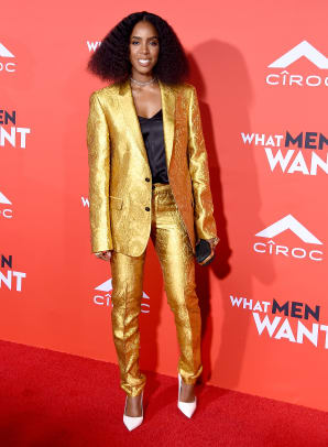 kelly rowland best dressed gold suit