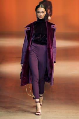 color purple nyfw trend fall 2019 Cushnie RF19 0096