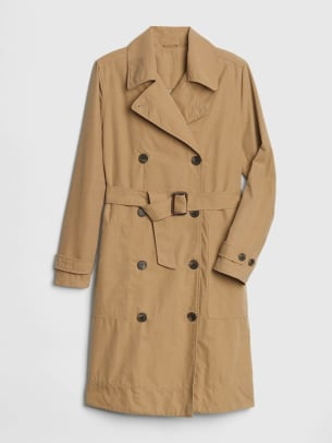 1_GAP LONGLINE TRENCH COAT KHAKI