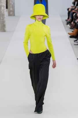 chartreuse neon trend paris fashion week fall 2019-7