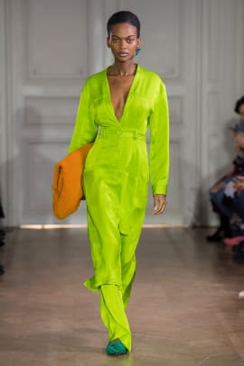 chartreuse neon trend paris fashion week fall 2019-10