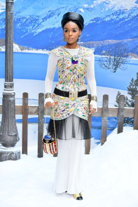 janelle monae front row chanel fall 2019