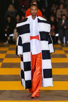 checkerboard print paris fashion week trend-7