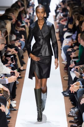 leather on leather paris fashion week fall 2019 trend-2