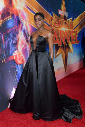 lashana lynch captain marvel red carpet press tour fashion style-4