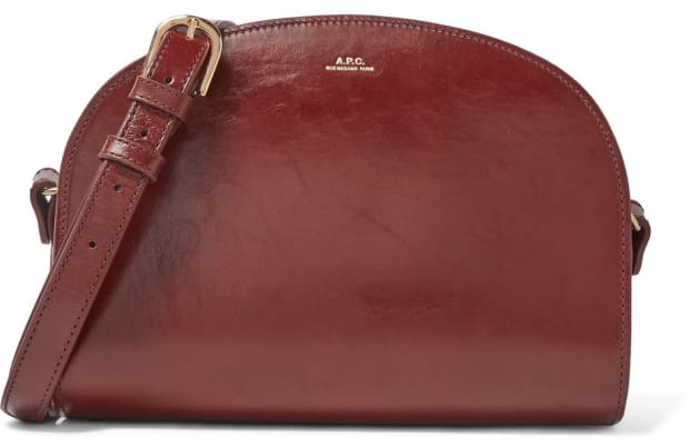 apc-demi-lune-textured-leather-shoulder-bag