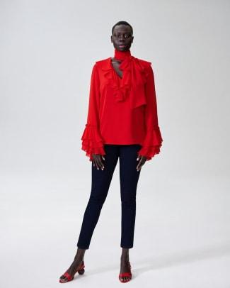 rodarte-x-universal-standard-blouse-red