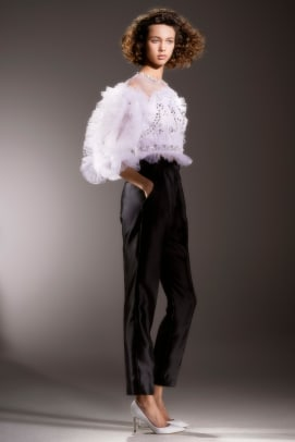 Viktor-Rolf-MariageVI-Marijke_Aerden-bridal-spring-2020-ruffle-top-black-pants
