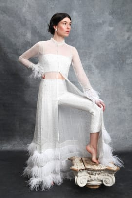 sahroo-the-love-collection-bridal-feather-wedding-dress-pants
