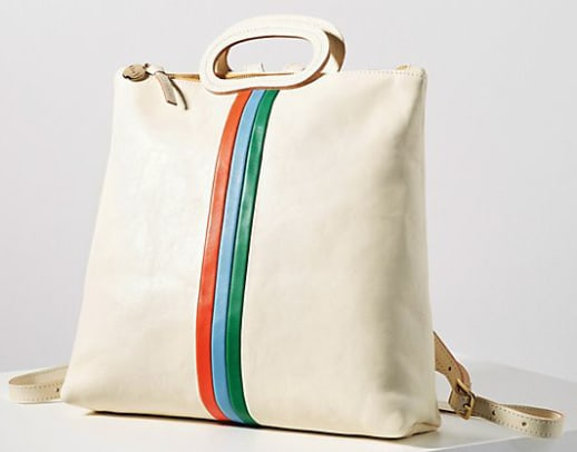 clare v striped rainbow backpack