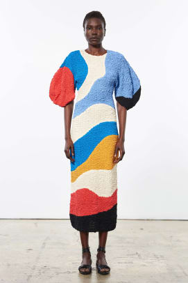 mara hoffman colorful dress