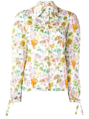 mushroom shirt colorful
