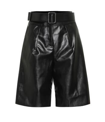 self portrait leather shorts