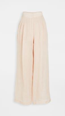 le kasha linen pants