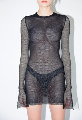 romeo hunte mesh dress