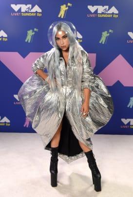 Lady Gaga wearing AREA Arrivals MTV VMAs 2020
