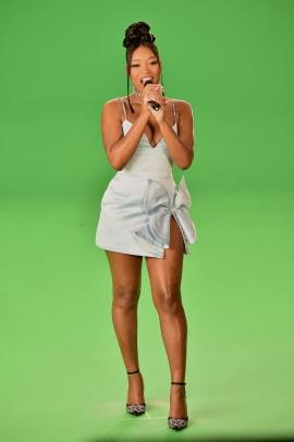 Keke Palmer wearing Area Arrivals MTV VMAs 2020