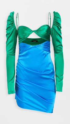 The Bar Long Sleeve Twist Top Dress Shopbop