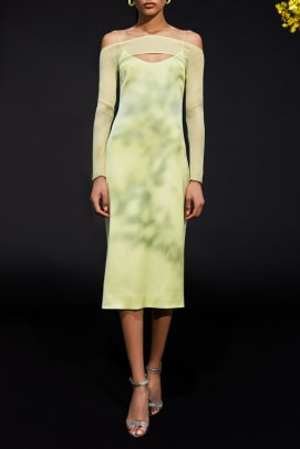 cushnie green dress