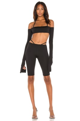 LaQuanSmith for Revolve top and biker short