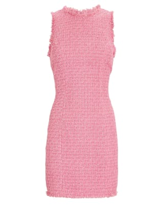Balmain Sleeveless Tweed Mini Dress Intermix