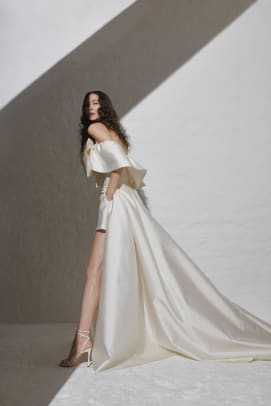 kaviar-gauche-fall-2021-bridal-wedding-dress-Bowie Couture_Bowerall short & Overskirt Sky 1_low