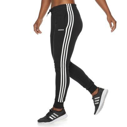 fleece 3 stripe sweatpants