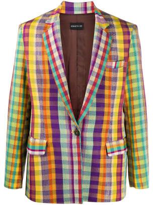 kenneth ize colorful blazer