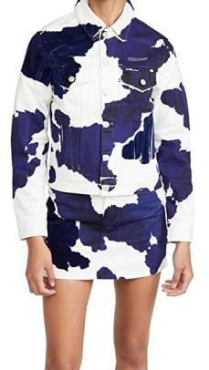 off-white denim cow