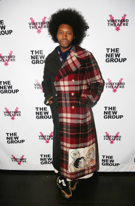 jeremy o harris vineyard theater fashion style gucci coat