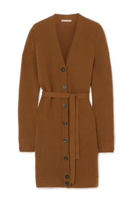 Belted cashmere cardigan, £560, YOOX NET-A-PORTER for The Prince's Foundation, NET-A-PORTER, YOOX and THE OUTNET