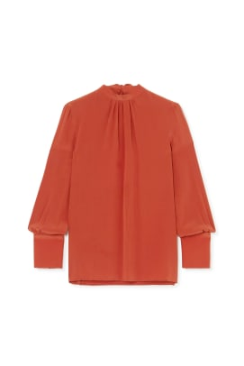 Pussy-bow silk blouse, £635, YOOX NET-A-PORTER for The Prince's Foundation, NET-A-PORTER, YOOX and THE OUTNET