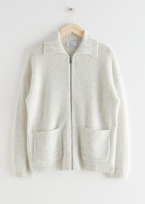off-white cardigan