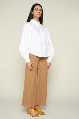 white collared button up shirt women's shopping